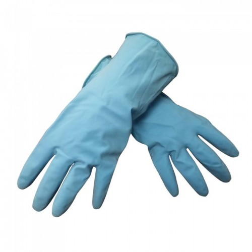 #3546 Blue H/Hold Rubber Glove