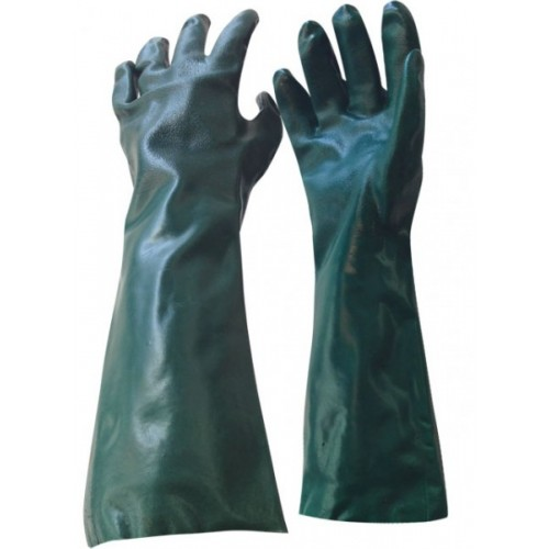 45cm Green PVC Gloves
