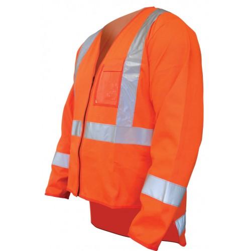 Hiviz Long Sleeve Dayglo Vest