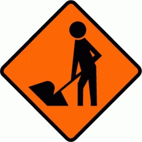 Road Works Road Sign 750x750FL