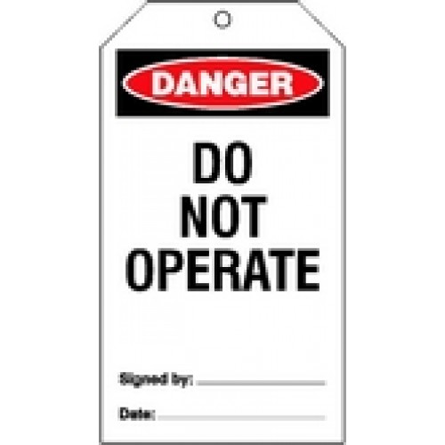 (pk/25) Warning Tags & Ties