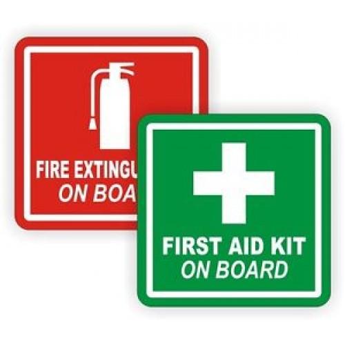 Fire Ext & First Aid Sticker p