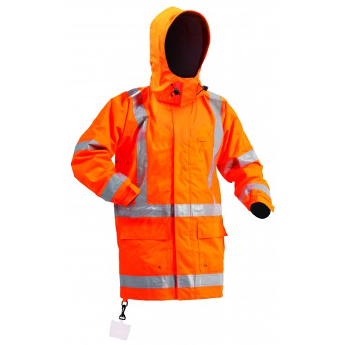 SW Orange Lined Hi Viz Jacket
