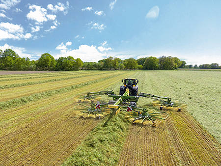 Krone Four & Six Rotor Centre Delivery Rakes
