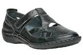 Propet Caylee WCX013L Black Closed Toe Sandal in WD width!