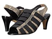 Rose Petal Charli Taupe Strappy High Heel in a W and WW Width