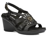 Walking Cradle Lindsey Black Wedge Peep Toe in a W and WW Width