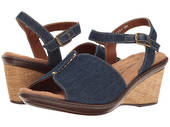 Walking Cradle Lucca Blue Demin Wedge in a WW Width