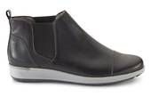 Walking Cradle Osmond Black Leather ankle boot in a W and WW Width
