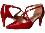 Walking Cradle Stella Red Patent High Heel in a WW Width
