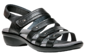 Propet WXF003L Aurora Black Sandal in WD widths