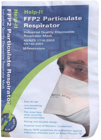 N95 FFP2 particulate respirators masks