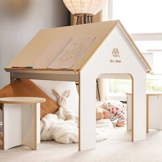 Must have - Arc House Playhouse & Kids Desk in 1 with Seat Set