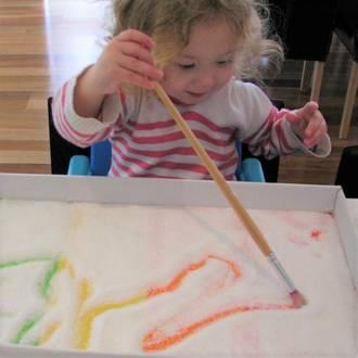 Make your own rainbow salt tray