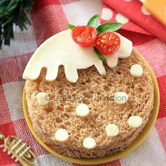 Christmas pudding sandwich