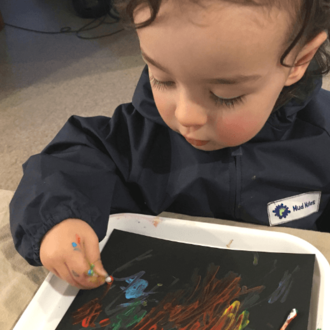 Benefits of process art for toddlers & preschoolers