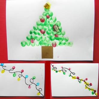 Make your own fingerprint Christmas cards