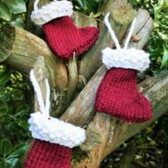 Mini wool Christmas stockings