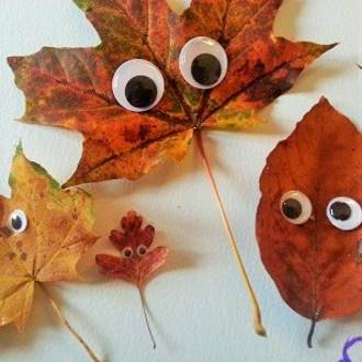 Make your own autumn leaf monsters