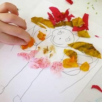 Kids flower art activity