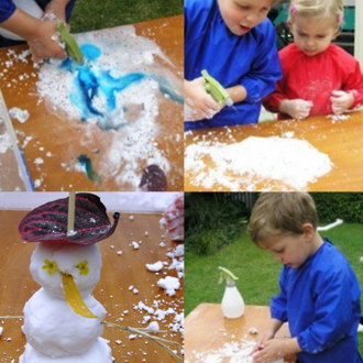 Make your own erupting snow