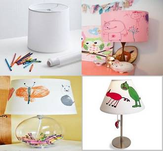 Make an arty lamp shade for your kids room