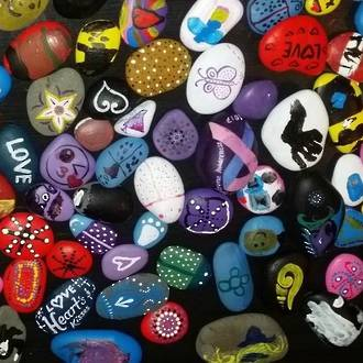 Make your own painted rocks