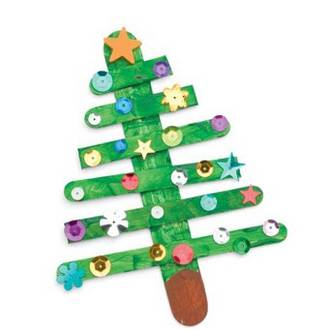 Make you own popsicle Christmas tree
