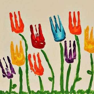 Tulip fork painting