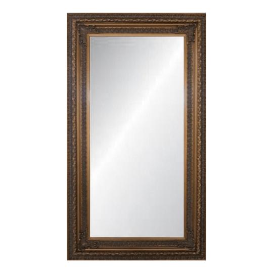 Antique Ornate Bevelled Mirror Large