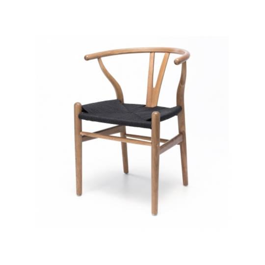 Agatha Chair Natural Oak Black Rope Seat