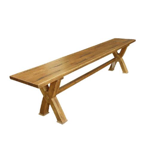 Antique Light Oak Bench Seat 1.8M