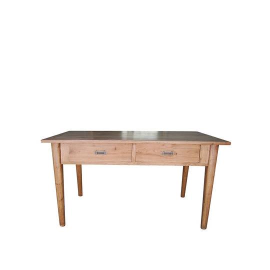 American Oak 2 Drawer Desk