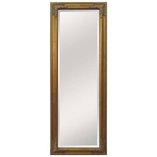 Antique Effect Beveled Dress Mirror