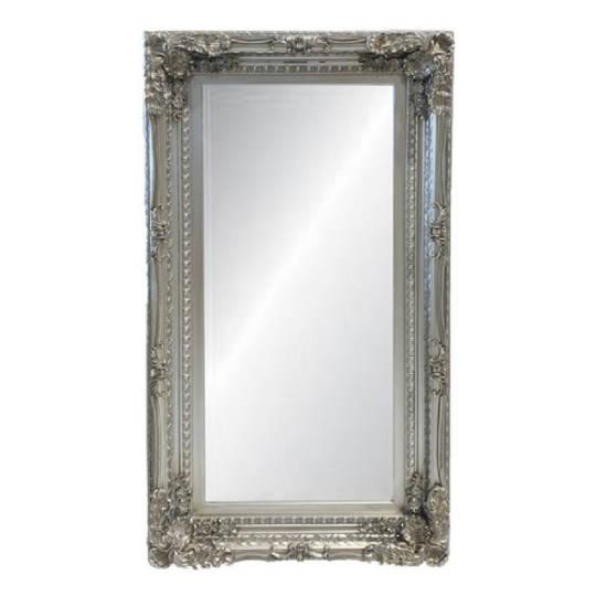 Antique Silver Ornate Mirror
