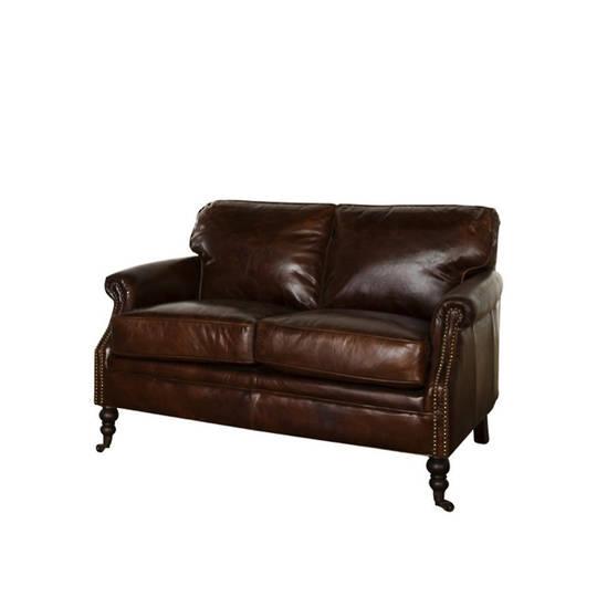 Sandringham Aged Italian Leather 2 Seater
