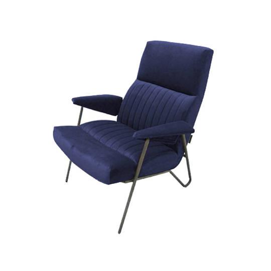 Artsome Ibex Chair Velvet Dark Blue
