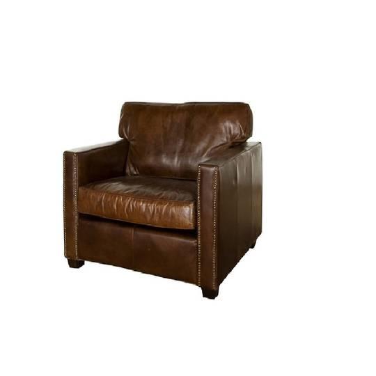 Buckingham Aged Italian Leather Chair