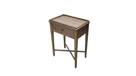 Bedside Table  Washed Ash