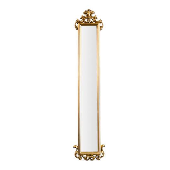 Beveled Dress Mirror Gold
