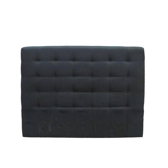 Charly Bedhead Black Fabric Super King