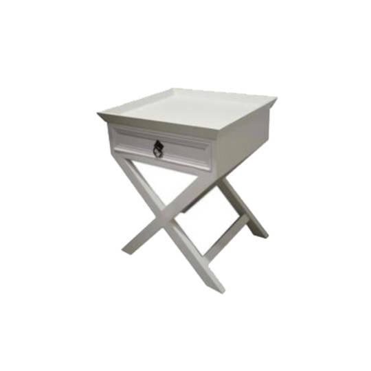 Calais Bedside Table - White Poplar