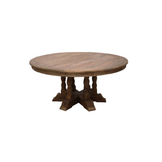Candace Large Old Pine Round Dining Table