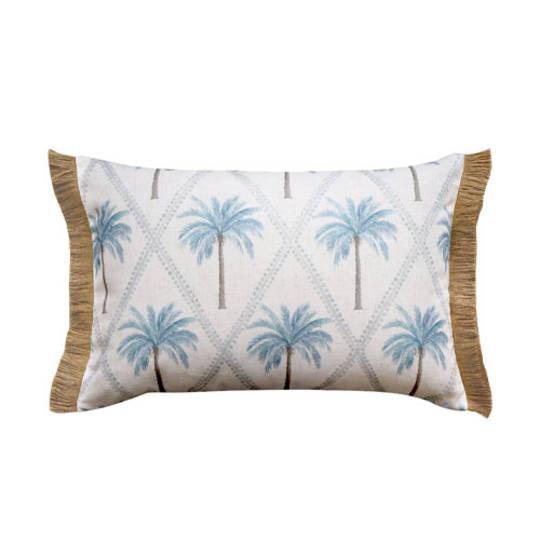 Capricorn Blue Lumbar Cushion