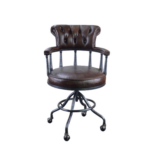 Captains Vintage Leather Office Chair Brown