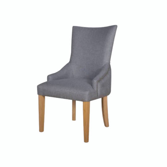 Charleston Dining Chair Grey Fabric