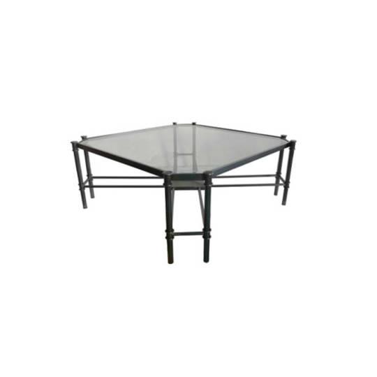 Coffee Table Jade - Gun Metal Stainless Steel and Glass