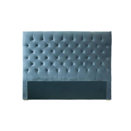 Cuba Queen Size Bedhead Velvet Grey