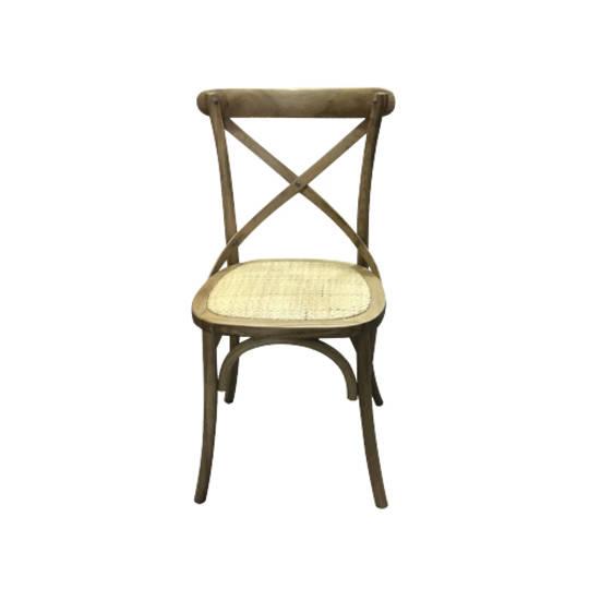 Delphi Oak Cross Back Chair Natural