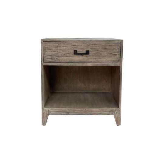 Emma Grey Washed Oak Bedside 1 Drawer
